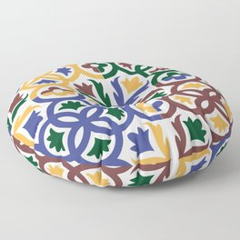 Andalusian Tiles 3 Floor Pillow