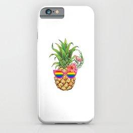 Pineapple Rainbow Flag Hawaiian Gay Pride LGBT iPhone Case
