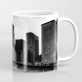Leaving Seattle black and white Coffee Mug