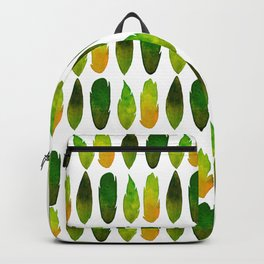 Green-yellow feathers Backpack