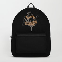 It's In My Veins | Barber Hairdresser Backpack