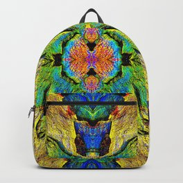 Colorful  Nature Wood Pattern Psychedelic Art Backpack