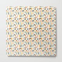 Rainbow Confetti Pattern Metal Print