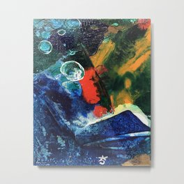 Mini World Environmental Blues 3 Metal Print