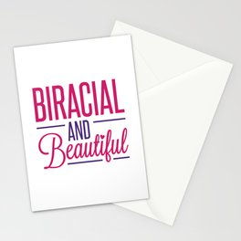 Biracial and Beautiful Mixed Race Stationery Cards