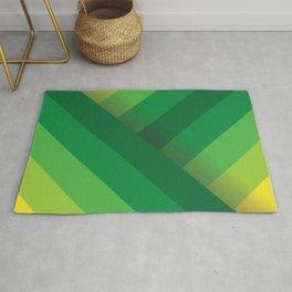 Stripes (green/yellow) Rug
