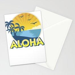 Vintage Aloha Island Surfing 70s Retro Stationery Cards