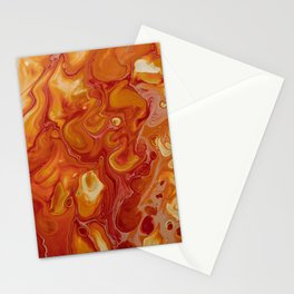 Japanese Magma Lava Marble Art Stationery Cards