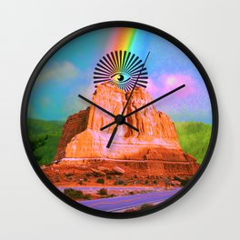 The Eye That Sees Everything Wall Clock
