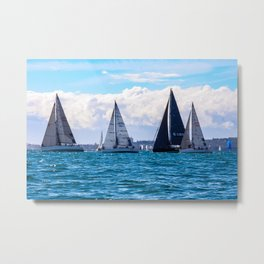 Yachting on Sydney Harbour. Sydney. Australia. Metal Print
