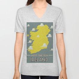 Meet the Sun - Ireland Unisex V-Neck