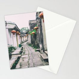 chinese ancient village Stationery Cards