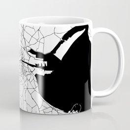White on Black Dublin Street Map Coffee Mug