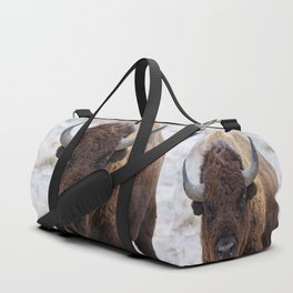 In The Presence Of Bison 2  Duffle Bag