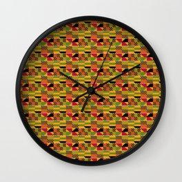 African Kente Pattern 7 Wall Clock