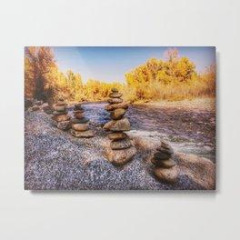 Stacked stones Metal Print