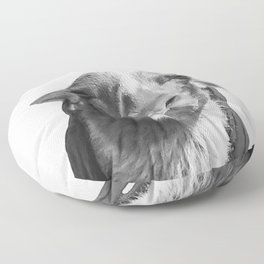 Who's a pretty girl? black and white Floor Pillow