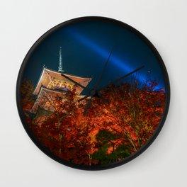 Kiyomizudera Red Wall Clock