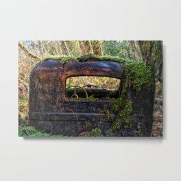 Mossy Truck Cab Metal Print