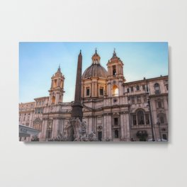 Piazza Navona, Rome Metal Print