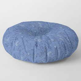 Inventory in Blue Floor Pillow