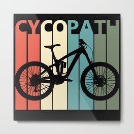 Retro Cycopath Metal Print