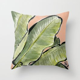 Palm Leaf No.1 Throw Pillow