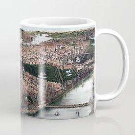 1877 Boston, Massachusetts Bird's Eye View Panorama City View Coffee Mug