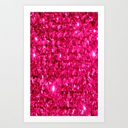SparklE Hot Pink Art Print