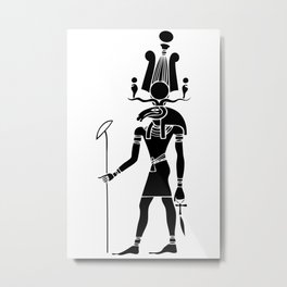 Khensu - God of ancient Egypt Metal Print
