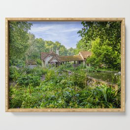 Duck Island Cottage Garden, St James's Park in London   Color   Travel Photography   Photo Print   Art Print Serving Tray