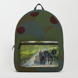 Grape Harvest Teamwork in the Vineyard Backpack