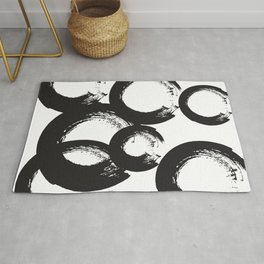 abstract geometry circles Rug