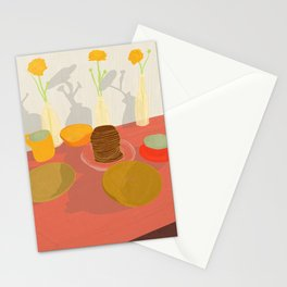 Monday morning breakfast Stationery Cards
