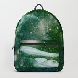 Green Teal Galaxy Girl Backpack