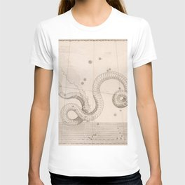Johann Bayer - Uranometria / Measuring the Heavens (1661) - 14 Serpens / The Snake T-shirt