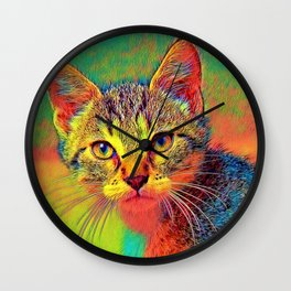 AnimalColor_Cat_ 010_by_JAMColors Wall Clock