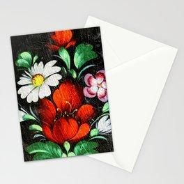 Vintage Flowers 4 Stationery Cards