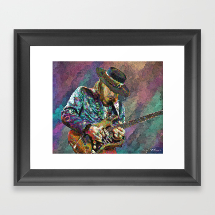 Stevie Ray Vaughan Framed Art Print by Michelmrtn FRM2526043