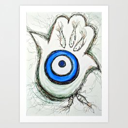 "Hamsa ""Safely Tethered"" Art Print"