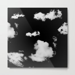 black & white clouds #1 Metal Print