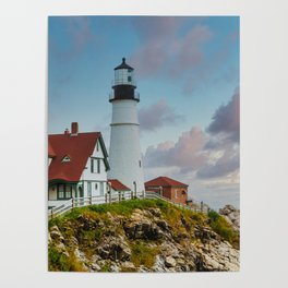 Portland Head Lighthouse at Dusk Poster