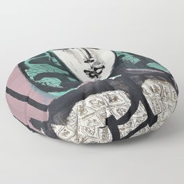 Pablo Picasso - The Woman with the Fishnet, Woman with Green Hair - Digital Remastered Edition Floor Pillow