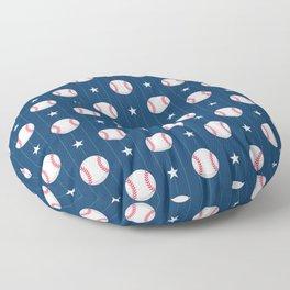 Baseball Pattern | Catcher Home-Run Team Pitcher Floor Pillow