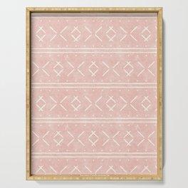 mud cloth stitch - pink Serving Tray