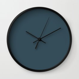 Dark Blue Grey Solid Color Pairs To Behr's 2021 Trending Color Nocturne Blue HDC-CL-28 Wall Clock