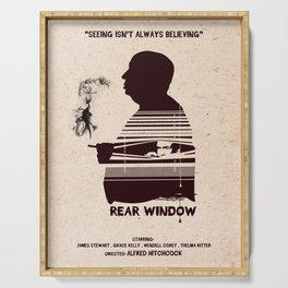 Rear Window Hitchcock silhouette art Serving Tray