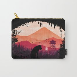 Lonely Wolf in The Cave Carry-All Pouch