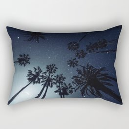 Palm Trees, Night Sky, Stars, Moon Rectangular Pillow
