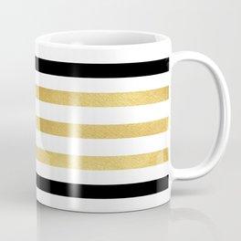Luxurious zebra golden black lines Coffee Mug